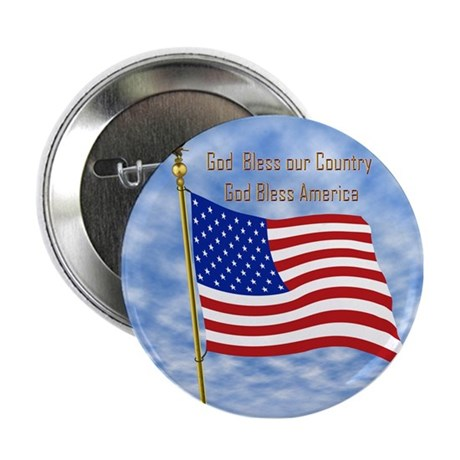 God Bless America 1 Button