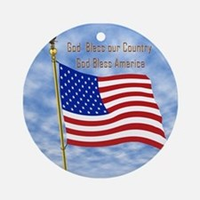 God Bless America 1 Ornament (Round)