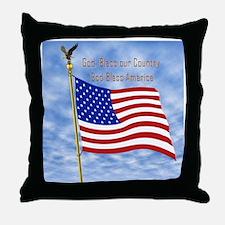 God Bless America 1 Throw Pillow