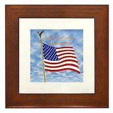 God Bless America 1 Framed Tile