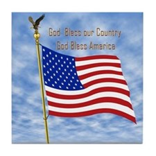 God Bless America 1 Tile Coaster