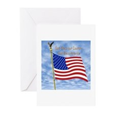 God Bless America 1 Greeting Cards (Pk of 10)