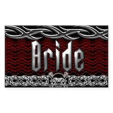 Metal Bride Rectangle Decal