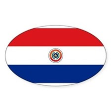 Paraguay National Flag Oval Decal