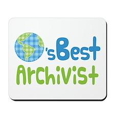 Earths Best Archivist Mousepad