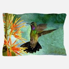 Hummingbird And Flowers Pillow Case