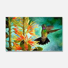 Hummingbird and Flowers Car Magnet 20 x 12