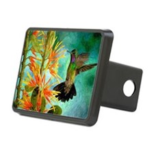 Hummingbird and Flowers Hitch Cover