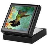Hummingbird keepsake box Square Keepsake Boxes