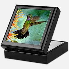 Hummingbird and Flowers Keepsake Box