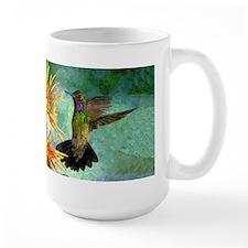Hummingbird and Flowers Mug