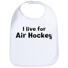 I Live for Air Hockey Bib