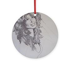 Farrah Fawcett Round Ornament