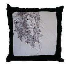 Farrah Fawcett Throw Pillow