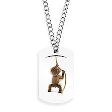 Hanging monkey Dog Tags