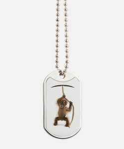 Hanging monkey Dog Tags