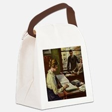Vintage Business Office Canvas Lunch Bag
