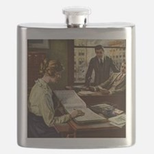 Vintage Business Office Flask