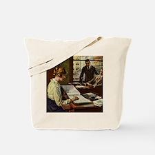Vintage Business Office Tote Bag