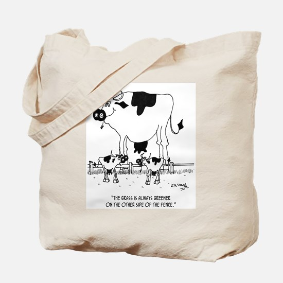 Cow Cartoon 3372 Tote Bag