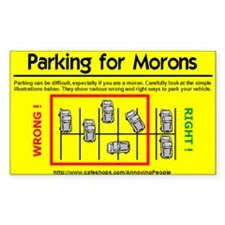 Parking for Morons Decal