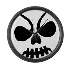 Scary Halloween Ghoul Large Wall Clock