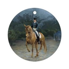 PB Piaffe Dressage Horse Ornament (Round)