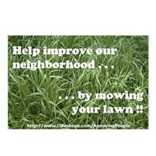 """Mow your lawn"" postcards (8)"