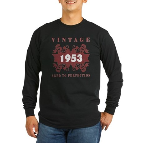 1953 Vintage (old-fashioned) Long Sleeve Dark T-Sh
