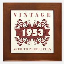1953 Vintage (old-fashioned) Framed Tile