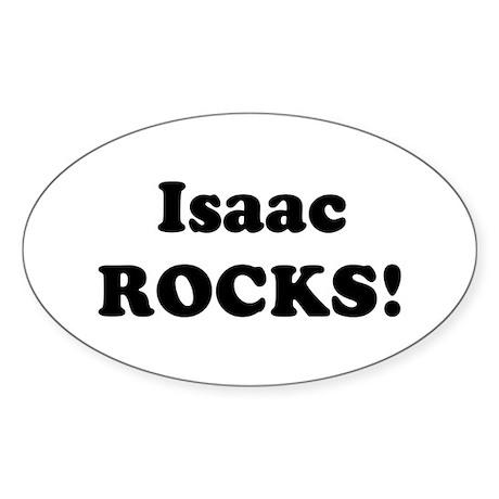 Isaac Rocks! Oval Sticker