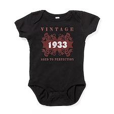 1933 Vintage (old-fashioned) Baby Bodysuit