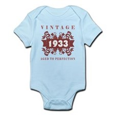 1933 Vintage (old-fashioned) Infant Bodysuit