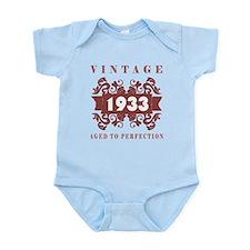 1933 Vintage (old-fashioned) Infant Bodysuit