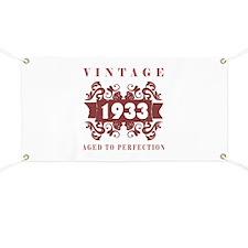 1933 Vintage (old-fashioned) Banner