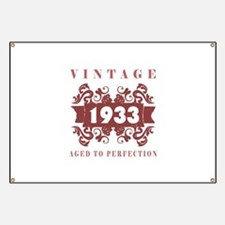 1933 Vintage (old-fashioned) Banner