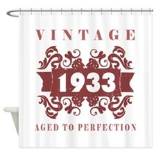 1933 Vintage (old-fashioned) Shower Curtain