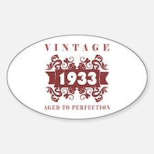 1933 Vintage (old-fashioned) Sticker (Oval)