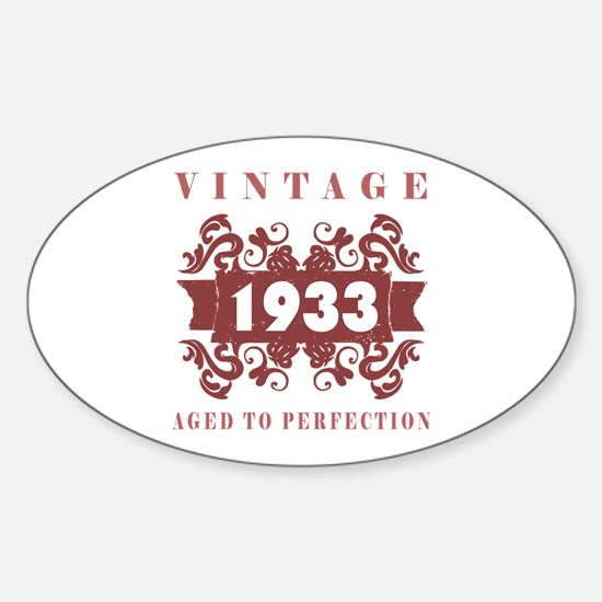 1933 Vintage (old-fashioned) Sticker (Oval)
