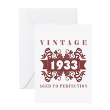 1933 Vintage (old-fashioned) Greeting Card