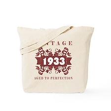 1933 Vintage (old-fashioned) Tote Bag