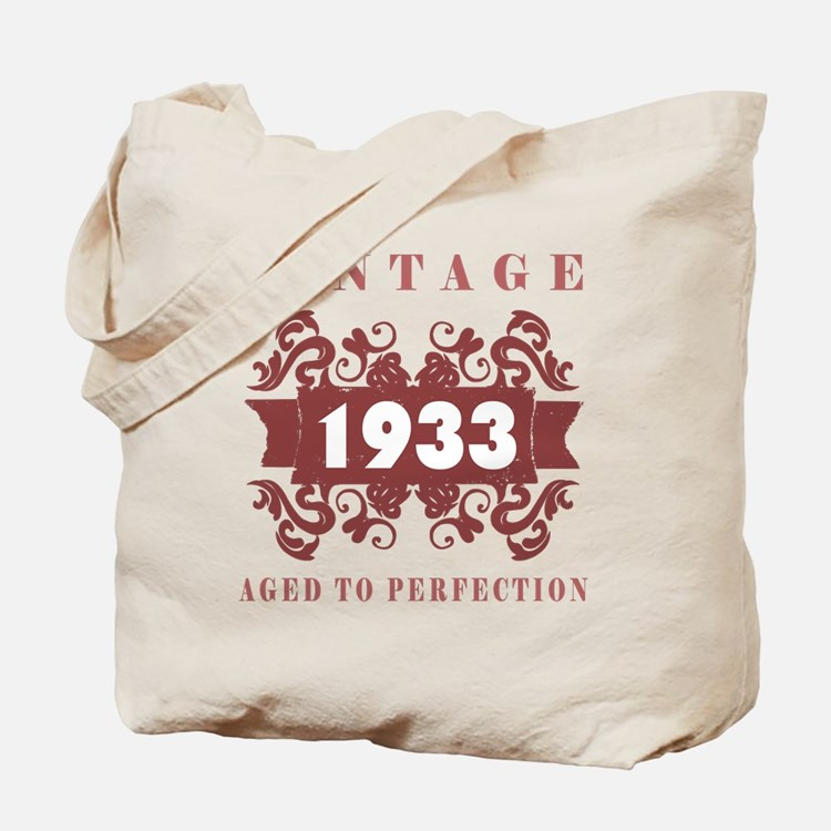 1933 Vintage (old-fashioned) Tote Bag