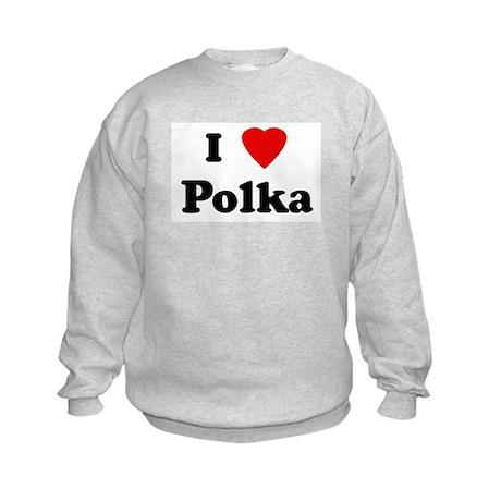 I Love Polka Kids Sweatshirt