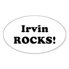 Irvin Rocks! Oval Decal