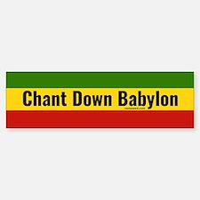 Rasta Gear Chant Down Babylon Bumper Car Car Sticker