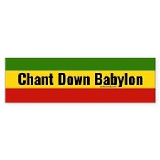 Rasta Gear Chant Down Babylon Bumper Car Sticker