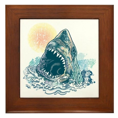 Sharks Happen Framed Tile