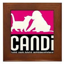 CANDi Cats & Dogs International Logo Framed Tile