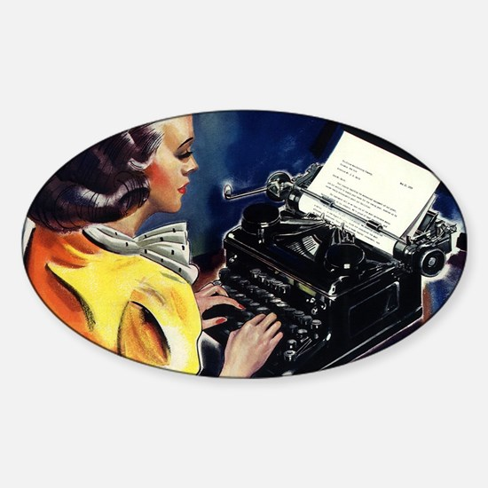 Vintage Business, Secretary Sticker (Oval)