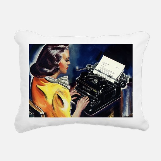 Vintage Business, Secret Rectangular Canvas Pillow